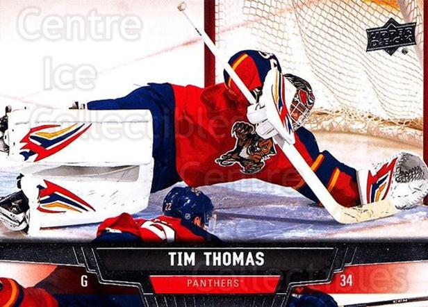 2013-14 Upper Deck #365 Tim Thomas<br/>11 In Stock - $1.00 each - <a href=https://centericecollectibles.foxycart.com/cart?name=2013-14%20Upper%20Deck%20%23365%20Tim%20Thomas...&quantity_max=11&price=$1.00&code=672953 class=foxycart> Buy it now! </a>