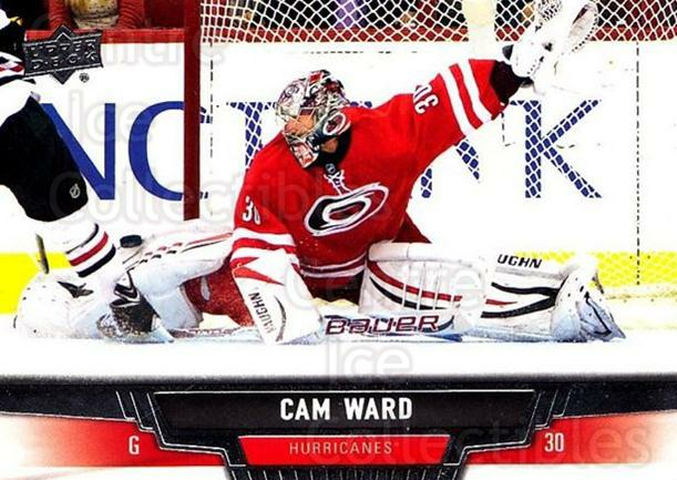 2013-14 Upper Deck #391 Cam Ward<br/>6 In Stock - $1.00 each - <a href=https://centericecollectibles.foxycart.com/cart?name=2013-14%20Upper%20Deck%20%23391%20Cam%20Ward...&price=$1.00&code=672979 class=foxycart> Buy it now! </a>