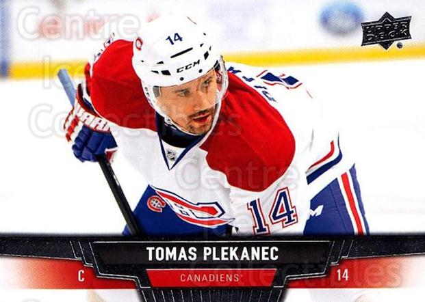 2013-14 Upper Deck #437 Tomas Plekanec<br/>12 In Stock - $1.00 each - <a href=https://centericecollectibles.foxycart.com/cart?name=2013-14%20Upper%20Deck%20%23437%20Tomas%20Plekanec...&quantity_max=12&price=$1.00&code=673025 class=foxycart> Buy it now! </a>
