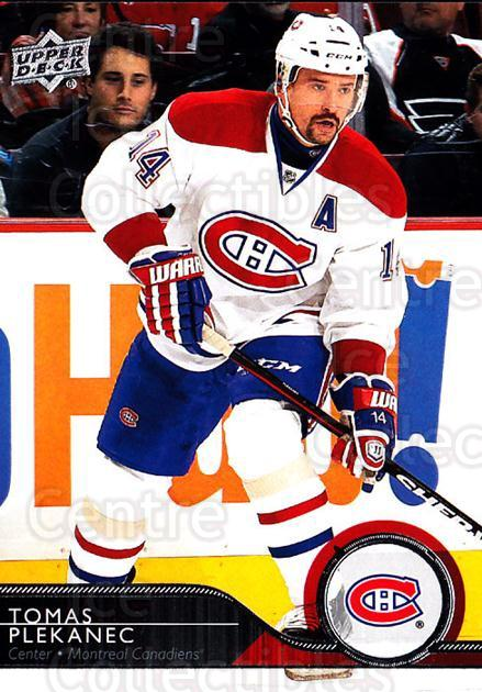 2014-15 Upper Deck #350 Tomas Plekanec<br/>11 In Stock - $1.00 each - <a href=https://centericecollectibles.foxycart.com/cart?name=2014-15%20Upper%20Deck%20%23350%20Tomas%20Plekanec...&quantity_max=11&price=$1.00&code=673438 class=foxycart> Buy it now! </a>