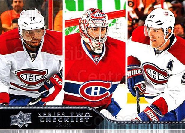 2014-15 Upper Deck #449 Carey Price, PK Subban, Max Pacioretty, Checklist<br/>2 In Stock - $1.00 each - <a href=https://centericecollectibles.foxycart.com/cart?name=2014-15%20Upper%20Deck%20%23449%20Carey%20Price,%20PK...&price=$1.00&code=673537 class=foxycart> Buy it now! </a>