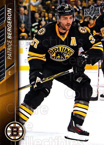 2015-16 Upper Deck #267 Patrice Bergeron<br/>13 In Stock - $2.00 each - <a href=https://centericecollectibles.foxycart.com/cart?name=2015-16%20Upper%20Deck%20%23267%20Patrice%20Bergero...&quantity_max=13&price=$2.00&code=673885 class=foxycart> Buy it now! </a>