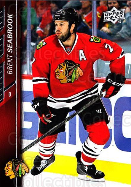 2015-16 Upper Deck #296 Brent Seabrook<br/>15 In Stock - $1.00 each - <a href=https://centericecollectibles.foxycart.com/cart?name=2015-16%20Upper%20Deck%20%23296%20Brent%20Seabrook...&quantity_max=15&price=$1.00&code=673914 class=foxycart> Buy it now! </a>
