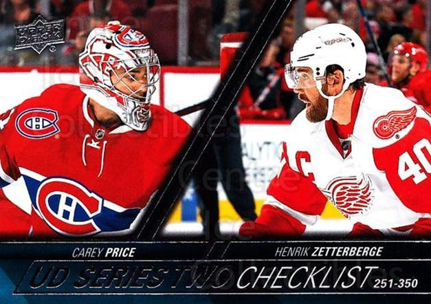 2015-16 Upper Deck #449 Carey Price, Henrik Zetterberg, Checklist<br/>10 In Stock - $1.00 each - <a href=https://centericecollectibles.foxycart.com/cart?name=2015-16%20Upper%20Deck%20%23449%20Carey%20Price,%20He...&price=$1.00&code=674067 class=foxycart> Buy it now! </a>