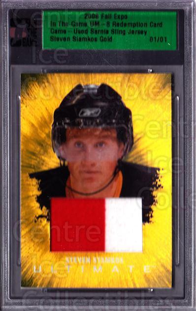 2008 ITG Ultimate Memorabilia Fall Expo Jersey Gold 1/1 #58 Steven Stamkos<br/>1 In Stock - $60.00 each - <a href=https://centericecollectibles.foxycart.com/cart?name=2008%20ITG%20Ultimate%20Memorabilia%20Fall%20Expo%20Jersey%20Gold%201/1%20%2358%20Steven%20Stamkos...&price=$60.00&code=674206 class=foxycart> Buy it now! </a>