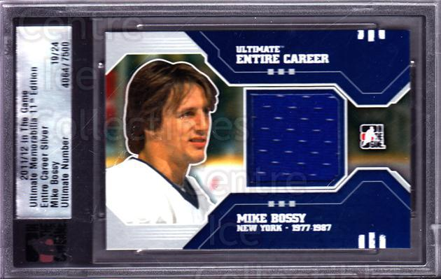 2011-12 ITG Ultimate Memorabilia Entire Career Memorabilia #2 Mike Bossy<br/>2 In Stock - $15.00 each - <a href=https://centericecollectibles.foxycart.com/cart?name=2011-12%20ITG%20Ultimate%20Memorabilia%20Entire%20Career%20Memorabilia%20%232%20Mike%20Bossy...&price=$15.00&code=676220 class=foxycart> Buy it now! </a>