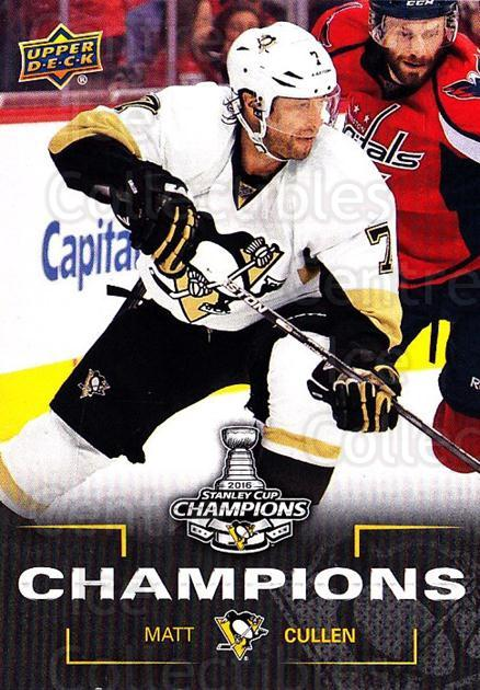 2016 Pittsburgh Penguins Stanley Cup Champions #3 Matt Cullen<br/>1 In Stock - $3.00 each - <a href=https://centericecollectibles.foxycart.com/cart?name=2016%20Pittsburgh%20Penguins%20Stanley%20Cup%20Champions%20%233%20Matt%20Cullen...&quantity_max=1&price=$3.00&code=677710 class=foxycart> Buy it now! </a>