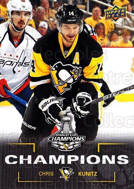 2016 Pittsburgh Penguins Stanley Cup Champions #18 Chris Kunitz<br/>4 In Stock - $3.00 each - <a href=https://centericecollectibles.foxycart.com/cart?name=2016%20Pittsburgh%20Penguins%20Stanley%20Cup%20Champions%20%2318%20Chris%20Kunitz...&quantity_max=4&price=$3.00&code=677725 class=foxycart> Buy it now! </a>