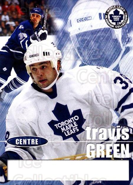 2002-03 Toronto Maple Leafs Platinum #7 Travis Green<br/>1 In Stock - $5.00 each - <a href=https://centericecollectibles.foxycart.com/cart?name=2002-03%20Toronto%20Maple%20Leafs%20Platinum%20%237%20Travis%20Green...&quantity_max=1&price=$5.00&code=677747 class=foxycart> Buy it now! </a>