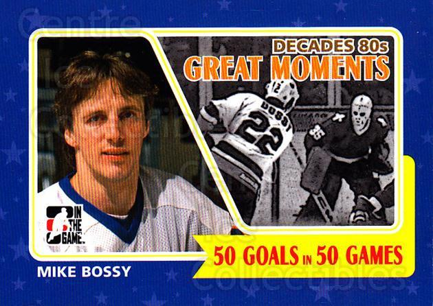 2010-11 ITG Decades 1980s Greatest Moments #1 Mike Bossy<br/>3 In Stock - $3.00 each - <a href=https://centericecollectibles.foxycart.com/cart?name=2010-11%20ITG%20Decades%201980s%20Greatest%20Moments%20%231%20Mike%20Bossy...&price=$3.00&code=677786 class=foxycart> Buy it now! </a>