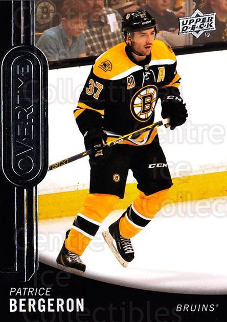 2014-15 Upper Deck Overtime #13 Patrice Bergeron<br/>2 In Stock - $3.00 each - <a href=https://centericecollectibles.foxycart.com/cart?name=2014-15%20Upper%20Deck%20Overtime%20%2313%20Patrice%20Bergero...&quantity_max=2&price=$3.00&code=677803 class=foxycart> Buy it now! </a>