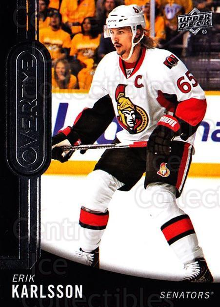 2014-15 Upper Deck Overtime #61 Erik Karlsson<br/>1 In Stock - $2.00 each - <a href=https://centericecollectibles.foxycart.com/cart?name=2014-15%20Upper%20Deck%20Overtime%20%2361%20Erik%20Karlsson...&quantity_max=1&price=$2.00&code=677851 class=foxycart> Buy it now! </a>