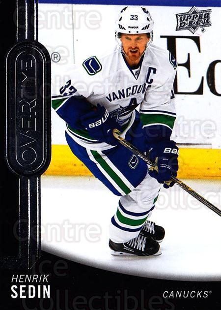 2014-15 Upper Deck Overtime #140 Henrik Sedin<br/>1 In Stock - $2.00 each - <a href=https://centericecollectibles.foxycart.com/cart?name=2014-15%20Upper%20Deck%20Overtime%20%23140%20Henrik%20Sedin...&quantity_max=1&price=$2.00&code=677930 class=foxycart> Buy it now! </a>