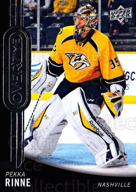 2014-15 Upper Deck Overtime #158 Pekka Rinne<br/>1 In Stock - $2.00 each - <a href=https://centericecollectibles.foxycart.com/cart?name=2014-15%20Upper%20Deck%20Overtime%20%23158%20Pekka%20Rinne...&quantity_max=1&price=$2.00&code=677948 class=foxycart> Buy it now! </a>