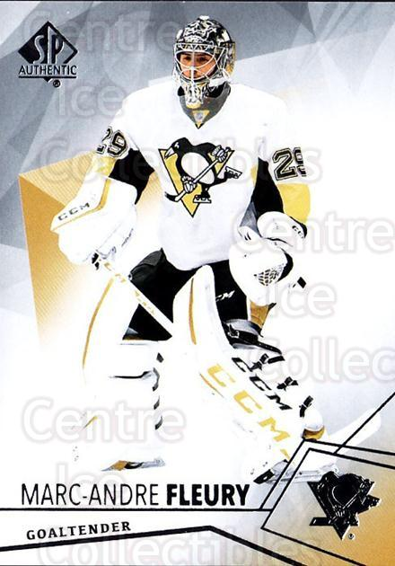 2015-16 SP Authentic #15 Marc-Andre Fleury<br/>13 In Stock - $2.00 each - <a href=https://centericecollectibles.foxycart.com/cart?name=2015-16%20SP%20Authentic%20%2315%20Marc-Andre%20Fleu...&quantity_max=13&price=$2.00&code=677985 class=foxycart> Buy it now! </a>
