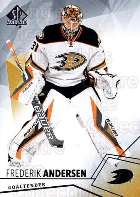 2015-16 SP Authentic #21 Frederik Andersen<br/>13 In Stock - $1.00 each - <a href=https://centericecollectibles.foxycart.com/cart?name=2015-16%20SP%20Authentic%20%2321%20Frederik%20Anders...&quantity_max=13&price=$1.00&code=677991 class=foxycart> Buy it now! </a>