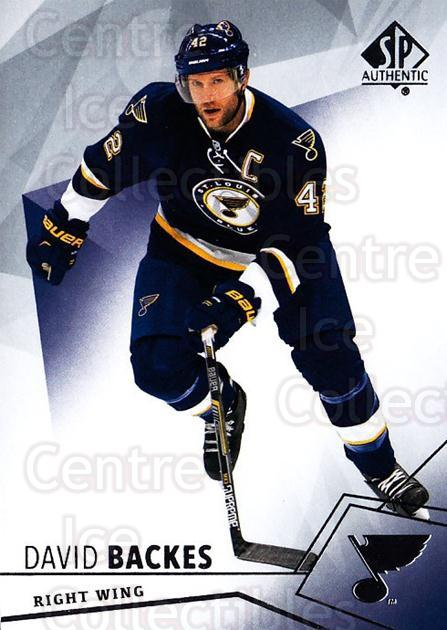 2015-16 SP Authentic #69 David Backes<br/>12 In Stock - $1.00 each - <a href=https://centericecollectibles.foxycart.com/cart?name=2015-16%20SP%20Authentic%20%2369%20David%20Backes...&quantity_max=12&price=$1.00&code=678039 class=foxycart> Buy it now! </a>