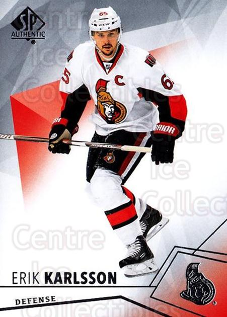 2015-16 SP Authentic #96 Erik Karlsson<br/>12 In Stock - $1.00 each - <a href=https://centericecollectibles.foxycart.com/cart?name=2015-16%20SP%20Authentic%20%2396%20Erik%20Karlsson...&quantity_max=12&price=$1.00&code=678066 class=foxycart> Buy it now! </a>