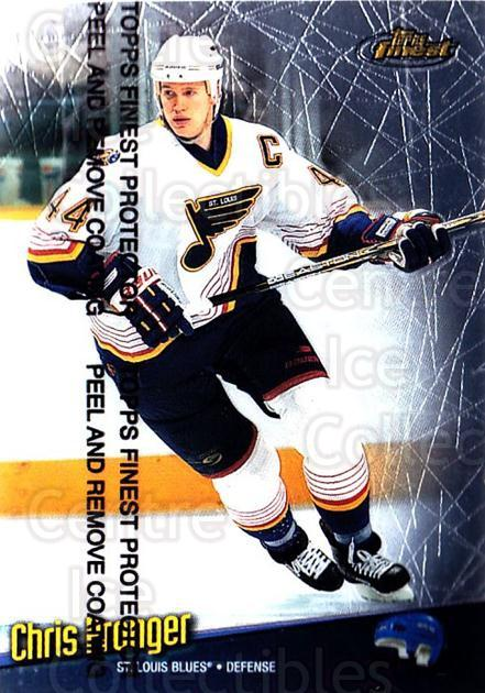 1998-99 Finest #22 Chris Pronger<br/>5 In Stock - $1.00 each - <a href=https://centericecollectibles.foxycart.com/cart?name=1998-99%20Finest%20%2322%20Chris%20Pronger...&quantity_max=5&price=$1.00&code=67820 class=foxycart> Buy it now! </a>