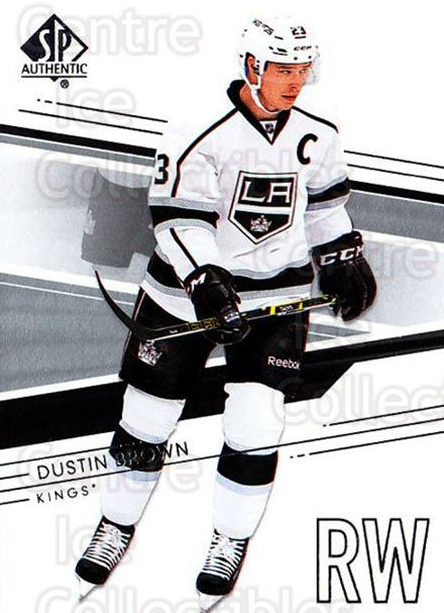 2014-15 SP Authentic #1 Dustin Brown<br/>2 In Stock - $1.00 each - <a href=https://centericecollectibles.foxycart.com/cart?name=2014-15%20SP%20Authentic%20%231%20Dustin%20Brown...&quantity_max=2&price=$1.00&code=678256 class=foxycart> Buy it now! </a>