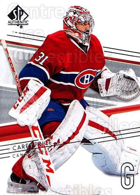 2014-15 SP Authentic #17 Carey Price<br/>2 In Stock - $3.00 each - <a href=https://centericecollectibles.foxycart.com/cart?name=2014-15%20SP%20Authentic%20%2317%20Carey%20Price...&price=$3.00&code=678272 class=foxycart> Buy it now! </a>