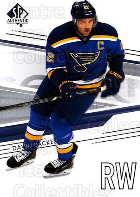 2014-15 SP Authentic #55 David Backes<br/>2 In Stock - $1.00 each - <a href=https://centericecollectibles.foxycart.com/cart?name=2014-15%20SP%20Authentic%20%2355%20David%20Backes...&quantity_max=2&price=$1.00&code=678310 class=foxycart> Buy it now! </a>