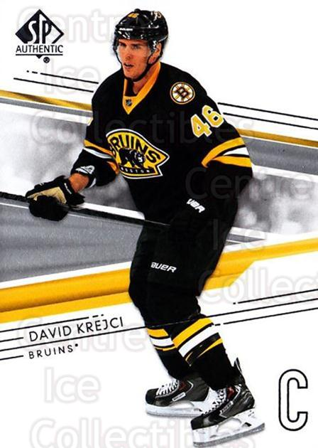 2014-15 SP Authentic #56 David Krejci<br/>2 In Stock - $1.00 each - <a href=https://centericecollectibles.foxycart.com/cart?name=2014-15%20SP%20Authentic%20%2356%20David%20Krejci...&quantity_max=2&price=$1.00&code=678311 class=foxycart> Buy it now! </a>