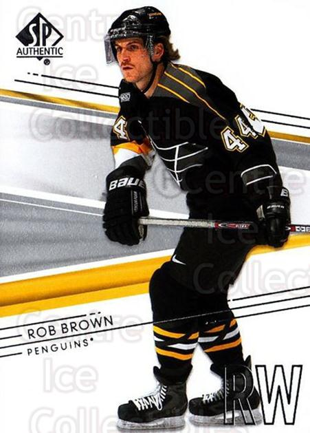 2014-15 SP Authentic #63 Rob Brown<br/>2 In Stock - $1.00 each - <a href=https://centericecollectibles.foxycart.com/cart?name=2014-15%20SP%20Authentic%20%2363%20Rob%20Brown...&quantity_max=2&price=$1.00&code=678318 class=foxycart> Buy it now! </a>