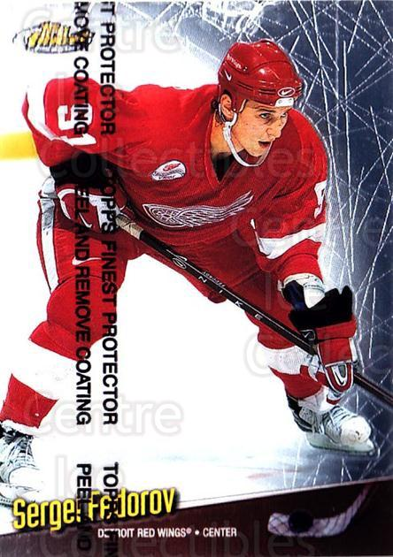 1998-99 Finest #34 Sergei Fedorov<br/>4 In Stock - $1.00 each - <a href=https://centericecollectibles.foxycart.com/cart?name=1998-99%20Finest%20%2334%20Sergei%20Fedorov...&quantity_max=4&price=$1.00&code=67833 class=foxycart> Buy it now! </a>