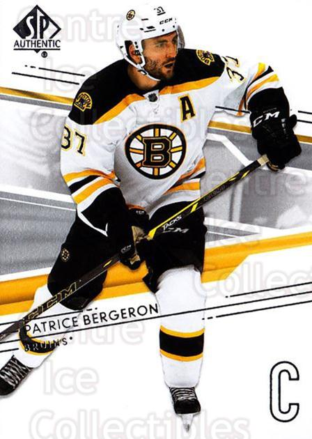 2014-15 SP Authentic #115 Patrice Bergeron<br/>2 In Stock - $2.00 each - <a href=https://centericecollectibles.foxycart.com/cart?name=2014-15%20SP%20Authentic%20%23115%20Patrice%20Bergero...&quantity_max=2&price=$2.00&code=678370 class=foxycart> Buy it now! </a>
