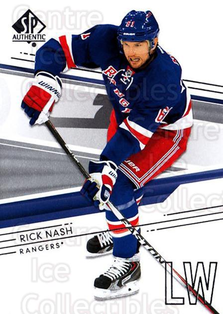 2014-15 SP Authentic #142 Rick Nash<br/>2 In Stock - $1.00 each - <a href=https://centericecollectibles.foxycart.com/cart?name=2014-15%20SP%20Authentic%20%23142%20Rick%20Nash...&quantity_max=2&price=$1.00&code=678397 class=foxycart> Buy it now! </a>