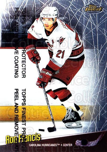 1998-99 Finest #50 Ron Francis<br/>5 In Stock - $1.00 each - <a href=https://centericecollectibles.foxycart.com/cart?name=1998-99%20Finest%20%2350%20Ron%20Francis...&quantity_max=5&price=$1.00&code=67850 class=foxycart> Buy it now! </a>