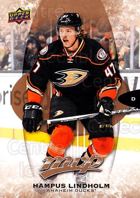 2016-17 Upper Deck MVP #44 Hampus Lindholm<br/>10 In Stock - $1.00 each - <a href=https://centericecollectibles.foxycart.com/cart?name=2016-17%20Upper%20Deck%20MVP%20%2344%20Hampus%20Lindholm...&quantity_max=10&price=$1.00&code=679019 class=foxycart> Buy it now! </a>