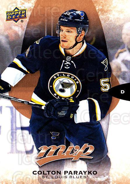2016-17 Upper Deck MVP #77 Colton Parayko<br/>9 In Stock - $1.00 each - <a href=https://centericecollectibles.foxycart.com/cart?name=2016-17%20Upper%20Deck%20MVP%20%2377%20Colton%20Parayko...&quantity_max=9&price=$1.00&code=679052 class=foxycart> Buy it now! </a>