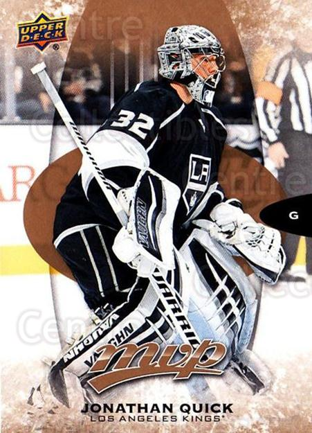 2016-17 Upper Deck MVP #90 Jonathan Quick<br/>8 In Stock - $1.00 each - <a href=https://centericecollectibles.foxycart.com/cart?name=2016-17%20Upper%20Deck%20MVP%20%2390%20Jonathan%20Quick...&quantity_max=8&price=$1.00&code=679065 class=foxycart> Buy it now! </a>
