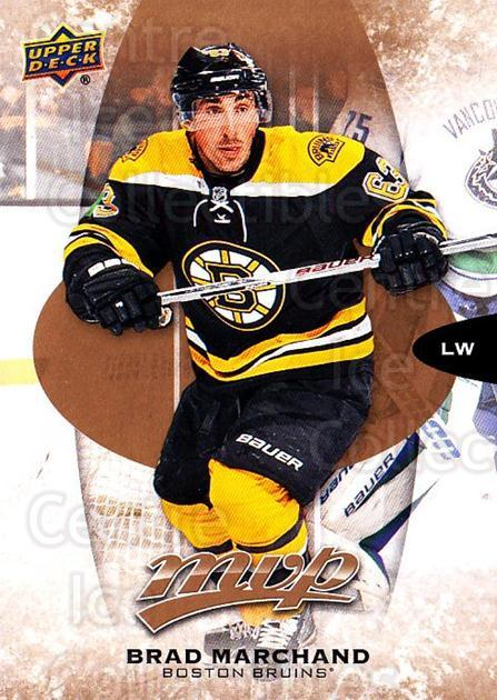 2016-17 Upper Deck MVP #119 Brad Marchand<br/>9 In Stock - $1.00 each - <a href=https://centericecollectibles.foxycart.com/cart?name=2016-17%20Upper%20Deck%20MVP%20%23119%20Brad%20Marchand...&quantity_max=9&price=$1.00&code=679094 class=foxycart> Buy it now! </a>