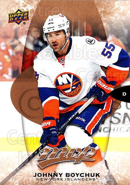 2016-17 Upper Deck MVP #122 Johnny Boychuk<br/>8 In Stock - $1.00 each - <a href=https://centericecollectibles.foxycart.com/cart?name=2016-17%20Upper%20Deck%20MVP%20%23122%20Johnny%20Boychuk...&quantity_max=8&price=$1.00&code=679097 class=foxycart> Buy it now! </a>