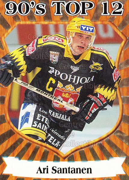 1998-99 Finnish Cardset 90s Top 12 #9 Ari Santanen<br/>5 In Stock - $3.00 each - <a href=https://centericecollectibles.foxycart.com/cart?name=1998-99%20Finnish%20Cardset%2090s%20Top%2012%20%239%20Ari%20Santanen...&quantity_max=5&price=$3.00&code=67910 class=foxycart> Buy it now! </a>