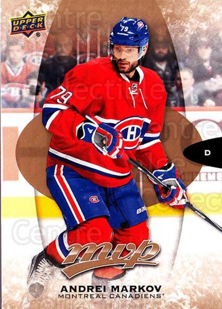 2016-17 Upper Deck MVP #161 Andrei Markov<br/>10 In Stock - $1.00 each - <a href=https://centericecollectibles.foxycart.com/cart?name=2016-17%20Upper%20Deck%20MVP%20%23161%20Andrei%20Markov...&quantity_max=10&price=$1.00&code=679136 class=foxycart> Buy it now! </a>