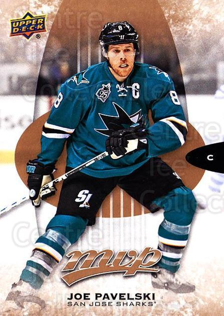 2016-17 Upper Deck MVP #185 Joe Pavelski<br/>10 In Stock - $1.00 each - <a href=https://centericecollectibles.foxycart.com/cart?name=2016-17%20Upper%20Deck%20MVP%20%23185%20Joe%20Pavelski...&quantity_max=10&price=$1.00&code=679160 class=foxycart> Buy it now! </a>
