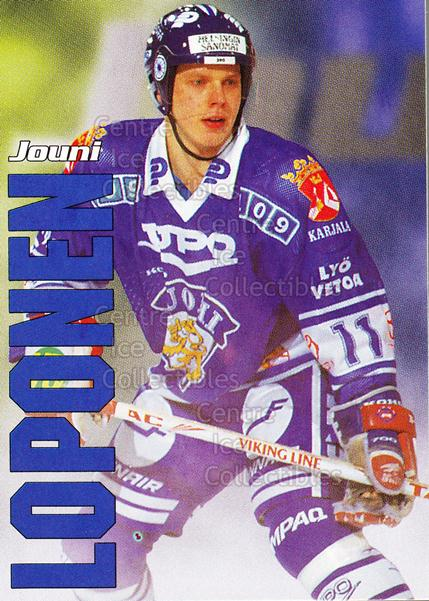 1998-99 Finnish Cardset Leijonat #12 Jouni Loponen<br/>6 In Stock - $3.00 each - <a href=https://centericecollectibles.foxycart.com/cart?name=1998-99%20Finnish%20Cardset%20Leijonat%20%2312%20Jouni%20Loponen...&quantity_max=6&price=$3.00&code=67919 class=foxycart> Buy it now! </a>