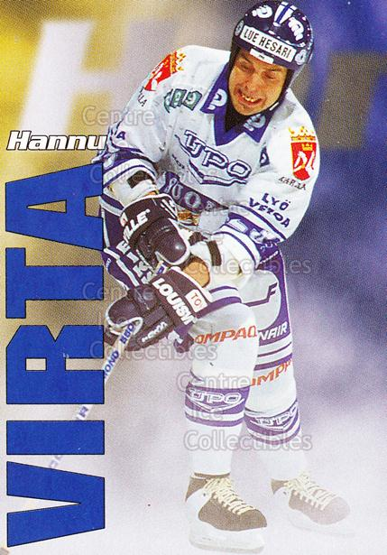 1998-99 Finnish Cardset Leijonat #18 Hannu Virta<br/>6 In Stock - $3.00 each - <a href=https://centericecollectibles.foxycart.com/cart?name=1998-99%20Finnish%20Cardset%20Leijonat%20%2318%20Hannu%20Virta...&quantity_max=6&price=$3.00&code=67925 class=foxycart> Buy it now! </a>