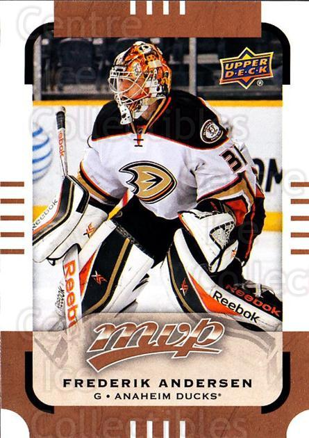 2015-16 Upper Deck MVP #16 Frederik Andersen<br/>11 In Stock - $1.00 each - <a href=https://centericecollectibles.foxycart.com/cart?name=2015-16%20Upper%20Deck%20MVP%20%2316%20Frederik%20Anders...&quantity_max=11&price=$1.00&code=679351 class=foxycart> Buy it now! </a>