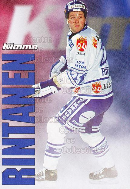 1998-99 Finnish Cardset Leijonat #38 Kimmo Rintanen<br/>3 In Stock - $3.00 each - <a href=https://centericecollectibles.foxycart.com/cart?name=1998-99%20Finnish%20Cardset%20Leijonat%20%2338%20Kimmo%20Rintanen...&quantity_max=3&price=$3.00&code=67946 class=foxycart> Buy it now! </a>