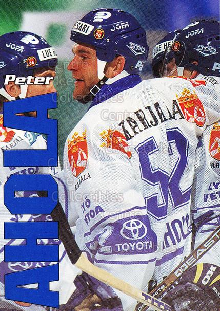 1998-99 Finnish Cardset Leijonat #4 Peter Ahola<br/>2 In Stock - $3.00 each - <a href=https://centericecollectibles.foxycart.com/cart?name=1998-99%20Finnish%20Cardset%20Leijonat%20%234%20Peter%20Ahola...&quantity_max=2&price=$3.00&code=67948 class=foxycart> Buy it now! </a>