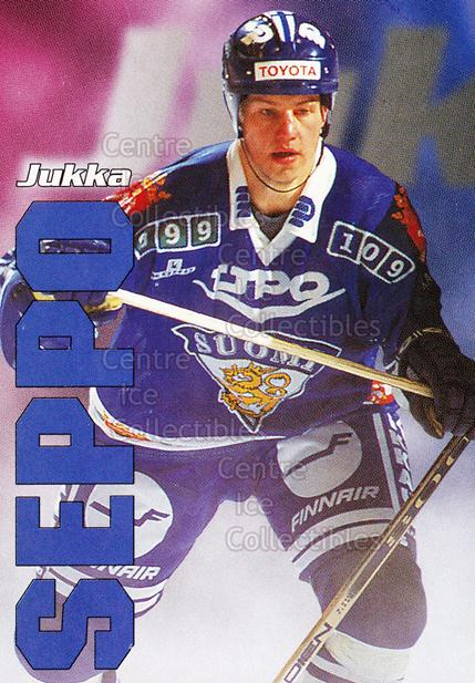 1998-99 Finnish Cardset Leijonat #41 Jukka Seppo<br/>4 In Stock - $3.00 each - <a href=https://centericecollectibles.foxycart.com/cart?name=1998-99%20Finnish%20Cardset%20Leijonat%20%2341%20Jukka%20Seppo...&quantity_max=4&price=$3.00&code=67950 class=foxycart> Buy it now! </a>