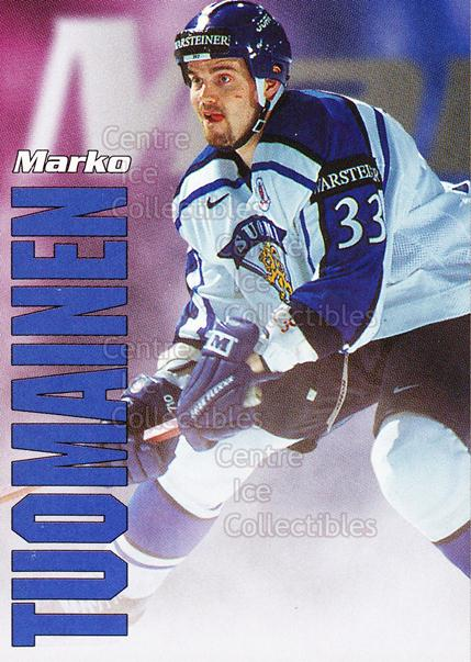 1998-99 Finnish Cardset Leijonat #44 Marko Tuomainen<br/>3 In Stock - $3.00 each - <a href=https://centericecollectibles.foxycart.com/cart?name=1998-99%20Finnish%20Cardset%20Leijonat%20%2344%20Marko%20Tuomainen...&quantity_max=3&price=$3.00&code=67953 class=foxycart> Buy it now! </a>