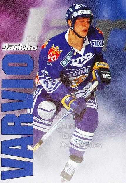 1998-99 Finnish Cardset Leijonat #46 Jarkko Varvio<br/>9 In Stock - $3.00 each - <a href=https://centericecollectibles.foxycart.com/cart?name=1998-99%20Finnish%20Cardset%20Leijonat%20%2346%20Jarkko%20Varvio...&quantity_max=9&price=$3.00&code=67955 class=foxycart> Buy it now! </a>