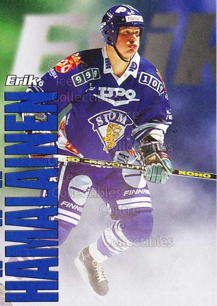 1998-99 Finnish Cardset Leijonat #5 Erik Hamalainen<br/>6 In Stock - $3.00 each - <a href=https://centericecollectibles.foxycart.com/cart?name=1998-99%20Finnish%20Cardset%20Leijonat%20%235%20Erik%20Hamalainen...&quantity_max=6&price=$3.00&code=67957 class=foxycart> Buy it now! </a>