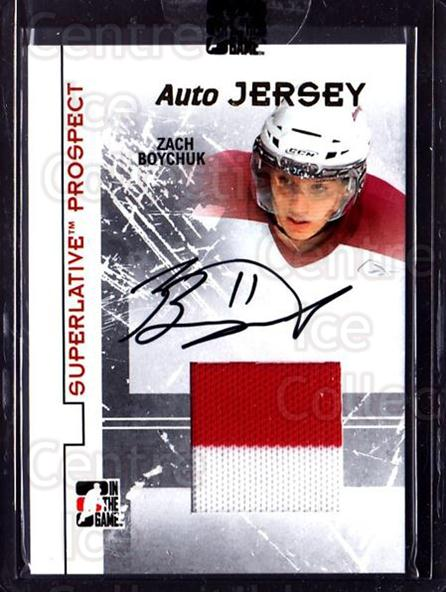 2009-10 ITG Superlative Prospect Jersey Auto Gold #PAJZB Zach Boychuk<br/>1 In Stock - $20.00 each - <a href=https://centericecollectibles.foxycart.com/cart?name=2009-10%20ITG%20Superlative%20Prospect%20Jersey%20Auto%20Gold%20%23PAJZB%20Zach%20Boychuk...&price=$20.00&code=681748 class=foxycart> Buy it now! </a>